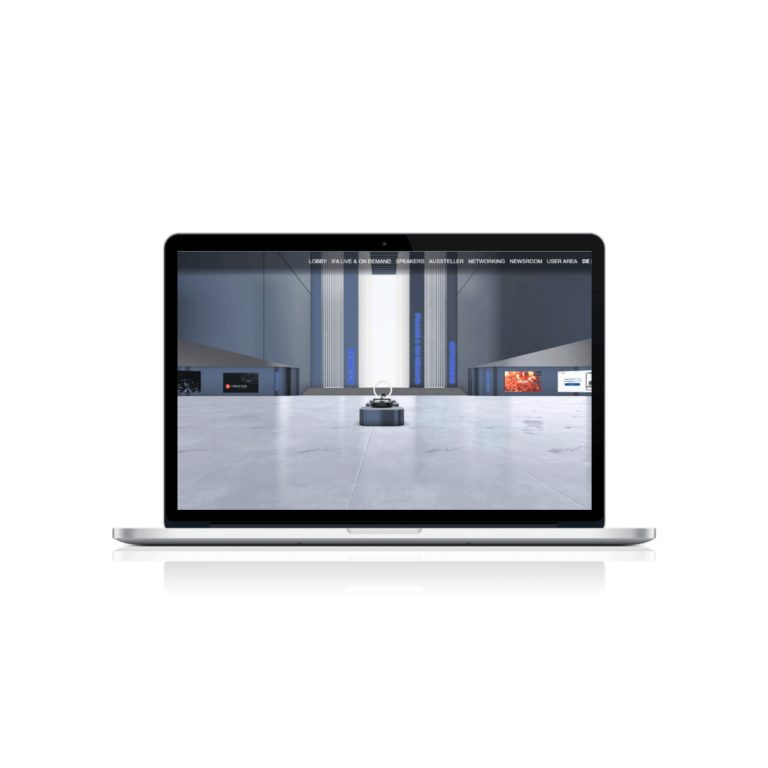laptop showing IFA Xtended Space