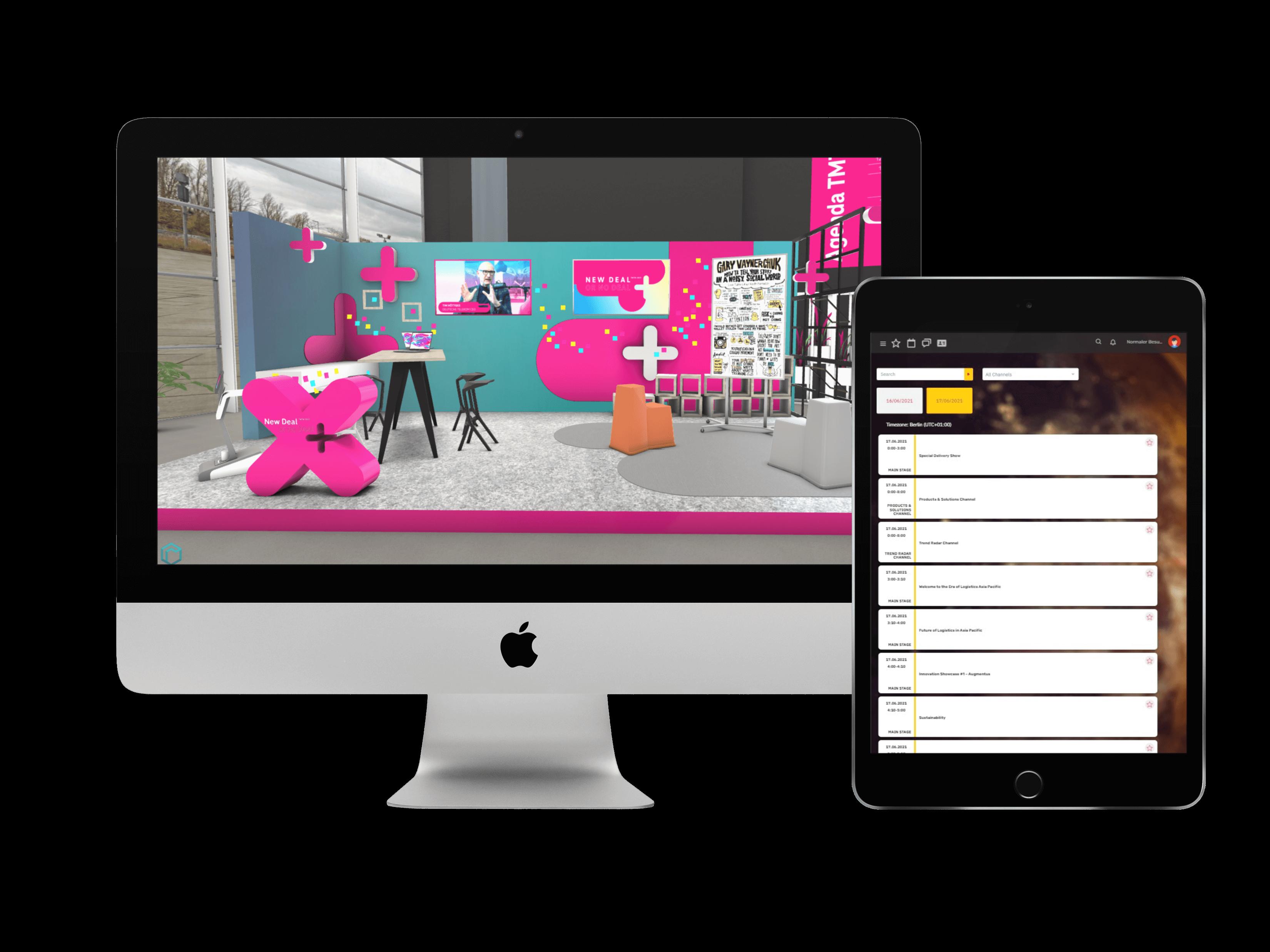 EventCloud platform virtual conference desktop & tablet