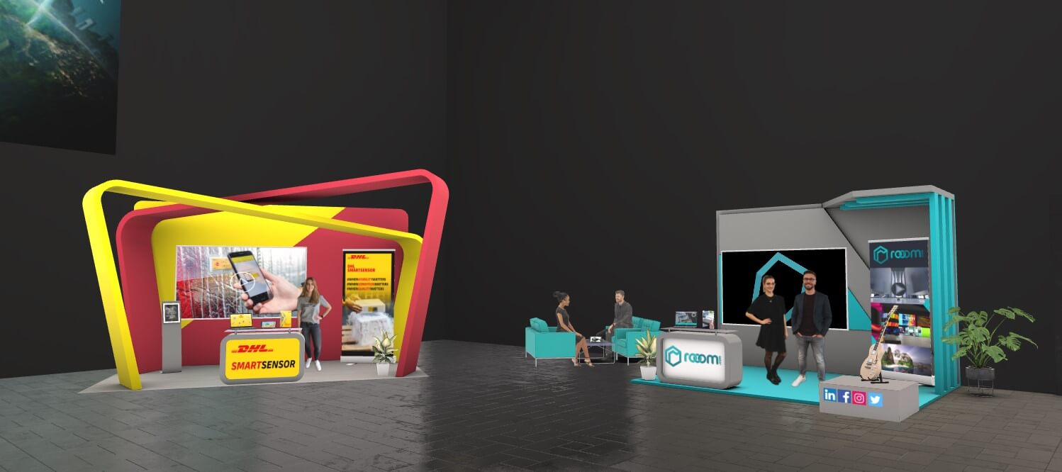 virtual exhibition booths at DHL summit