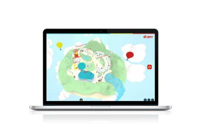 laptop showing community space EON