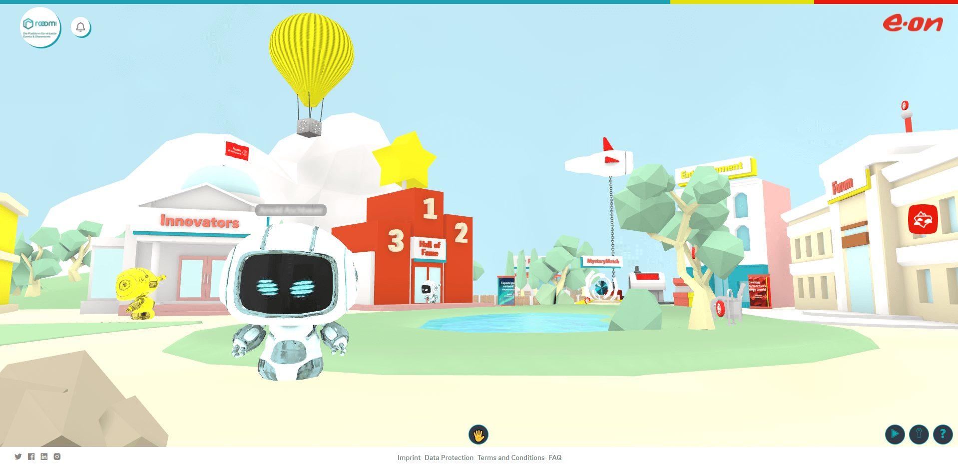 virtual event space in 3D - EON Republic of Innovators