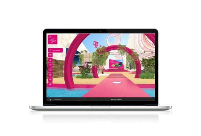laptop showing Telekom Techgrounds