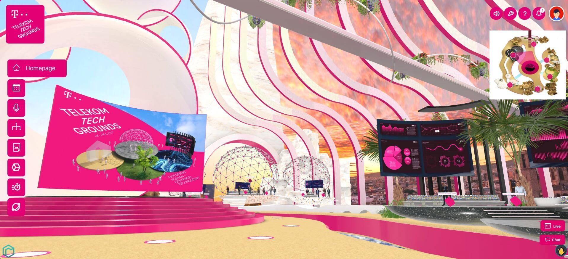 virtual venue Telekom Techgrounds