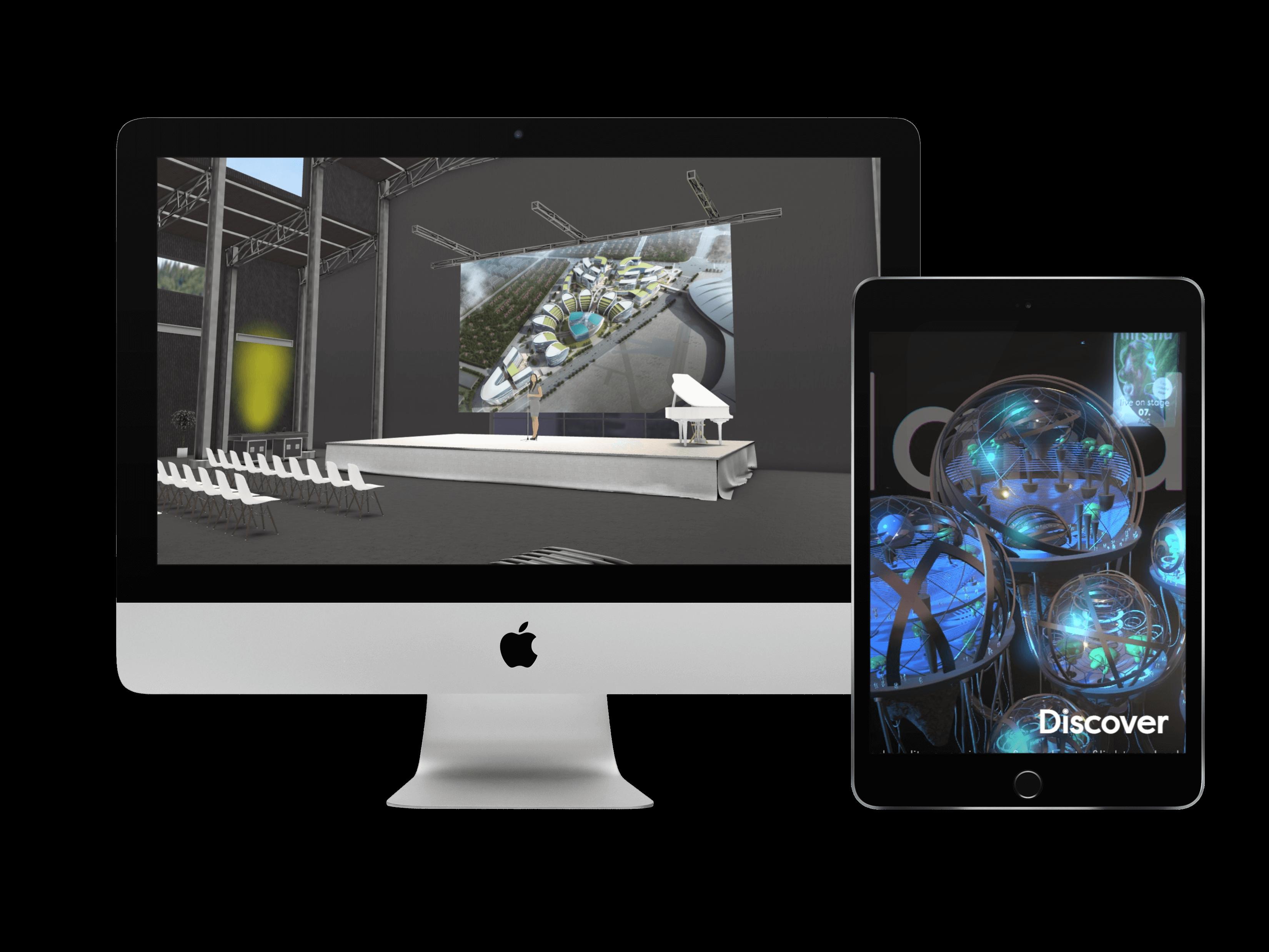EventCloud platform virtual concert desktop & tablet
