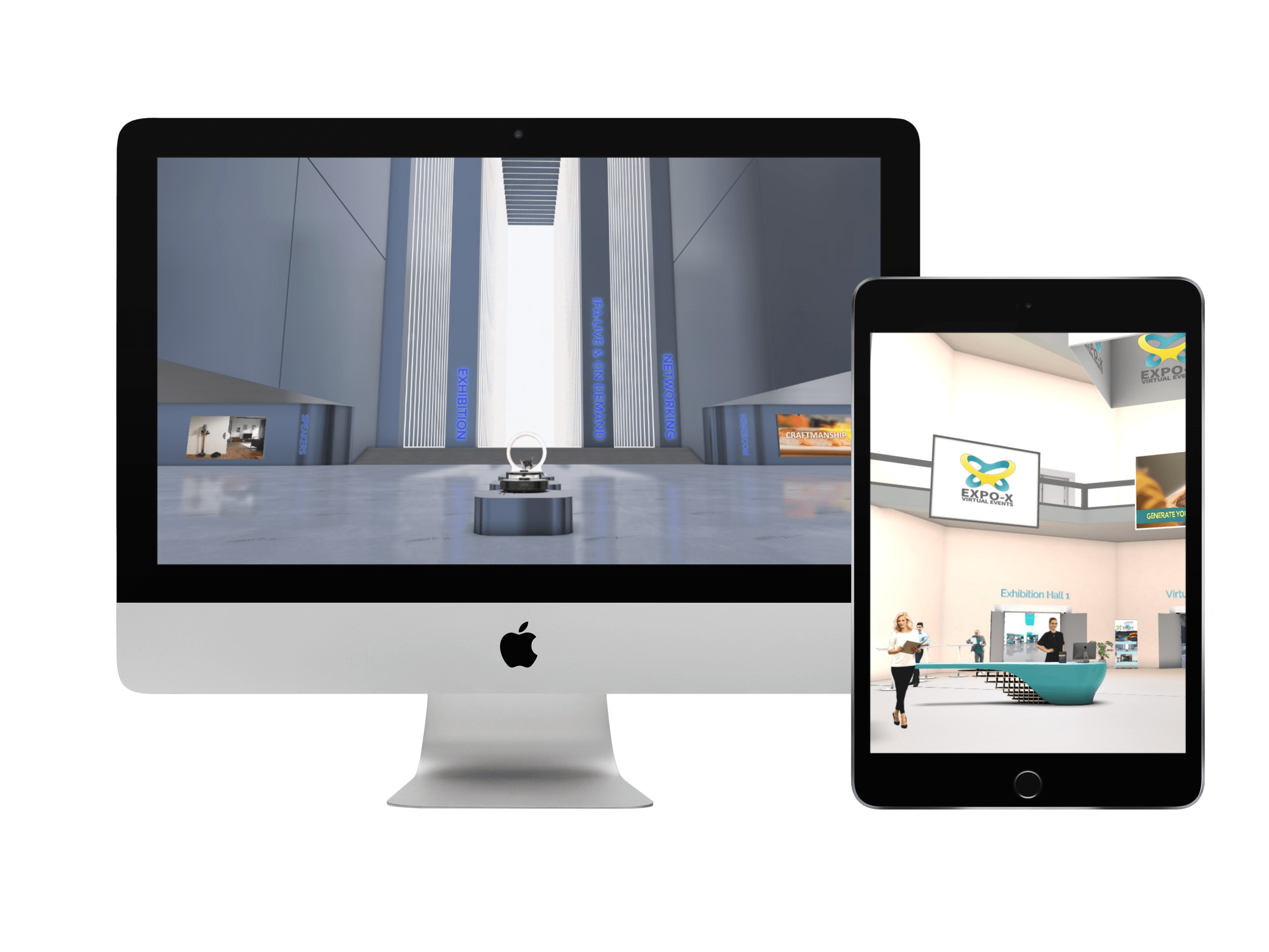 Mockup virtual expo