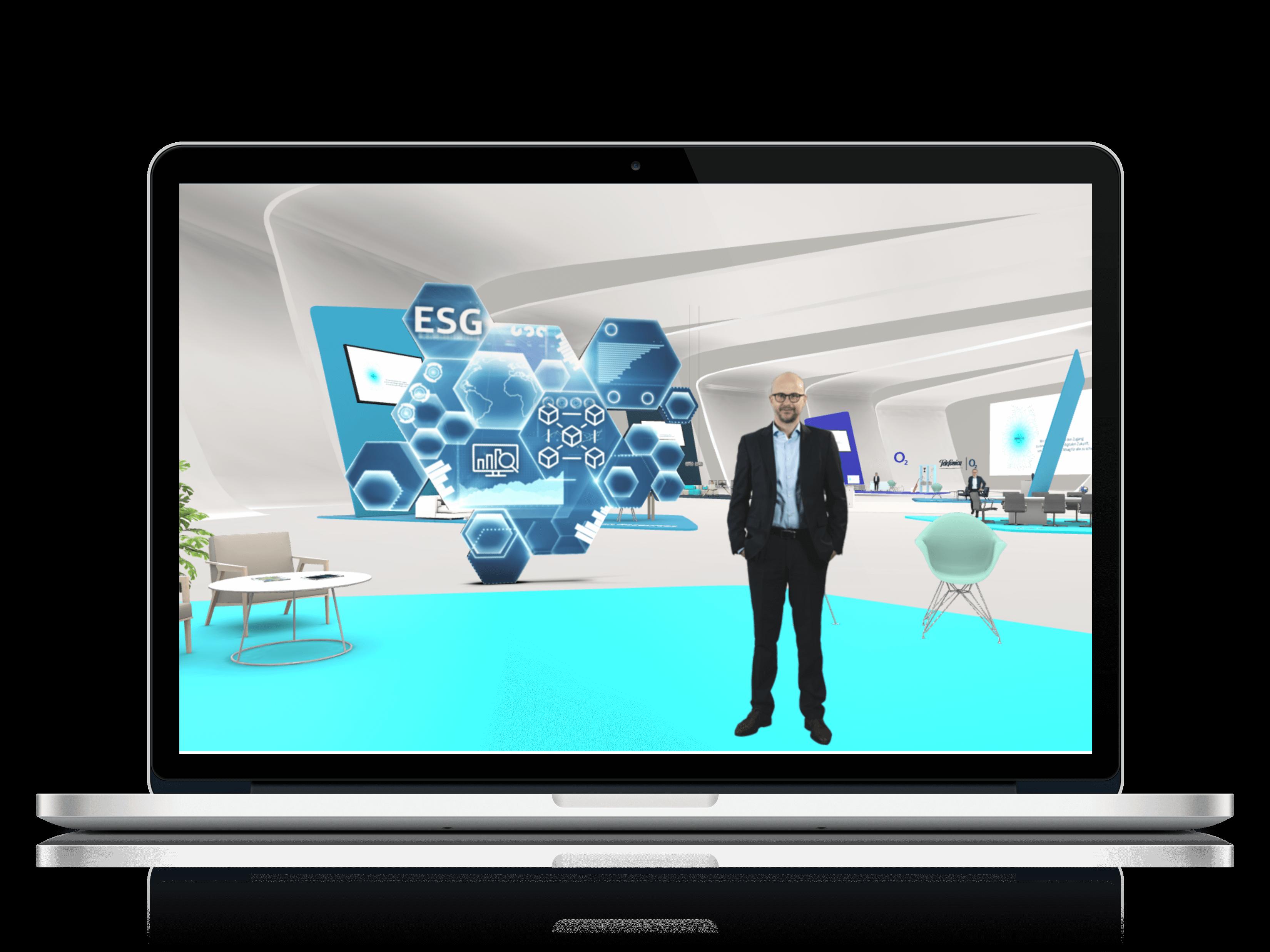 Mockup virtual social gathering